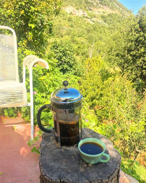 weekend escape 🏞.... ramramcoffee  turkishcoffee  kahve  kahvekeyfi... (Douma, Liban-Nord, Lebanon)